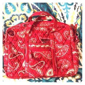Red paisley laptop bag